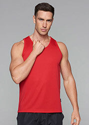 Botany Singlet Red Mens Web