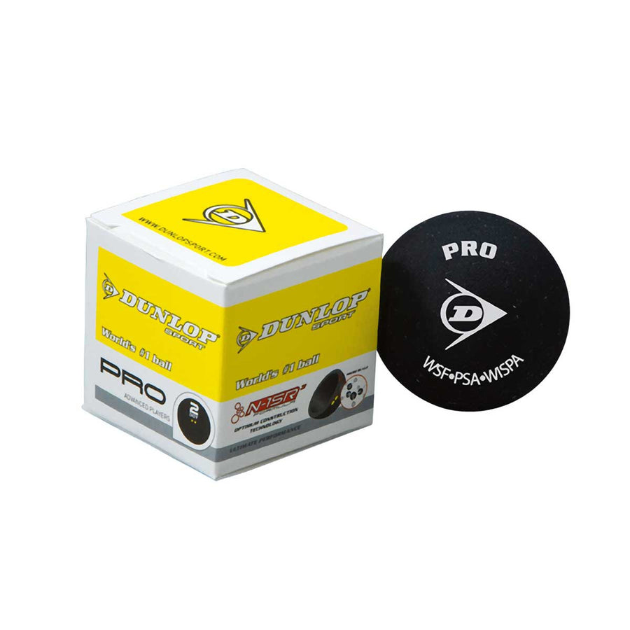 *CLEARANCE* Dunlop Pro Double Yellow Dot Squash Ball