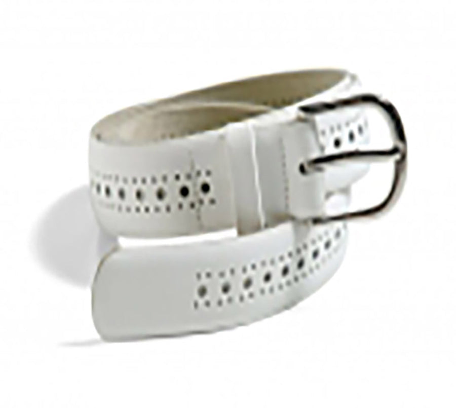 *CLEARANCE* Port Hole Belt - White