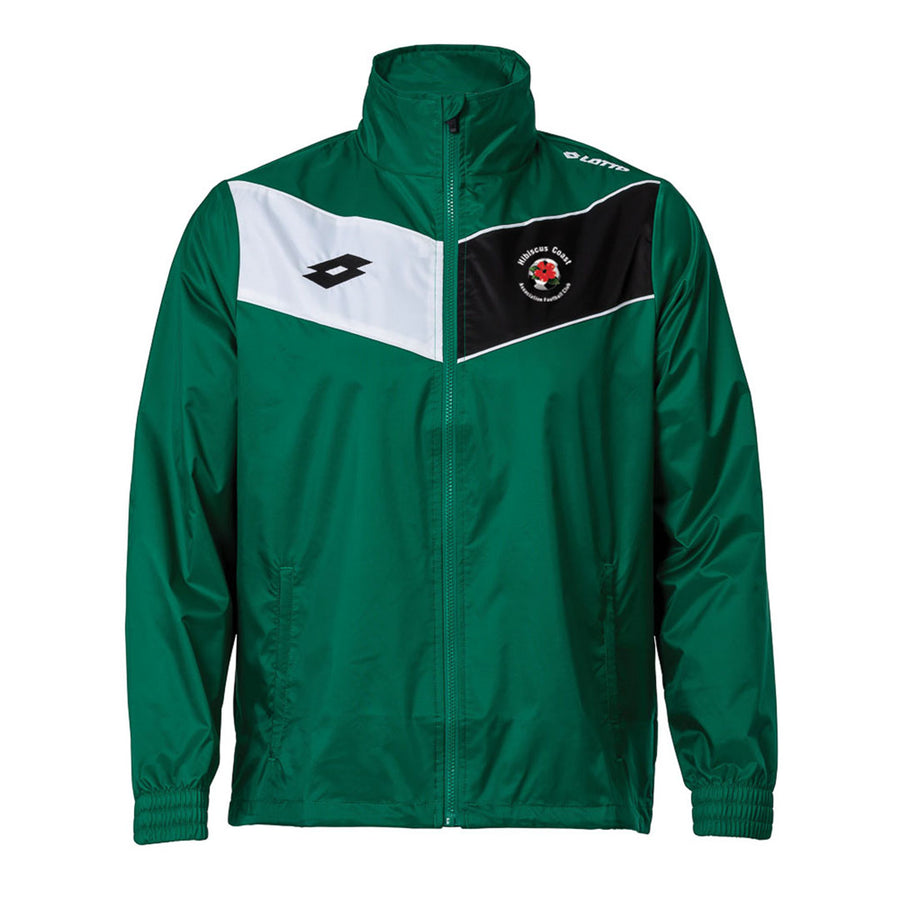 Hibiscus Coast AFC Lotto Wind Jacket Emerald/White/Black - Senior