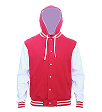 Hooded Letterman Red Web 6