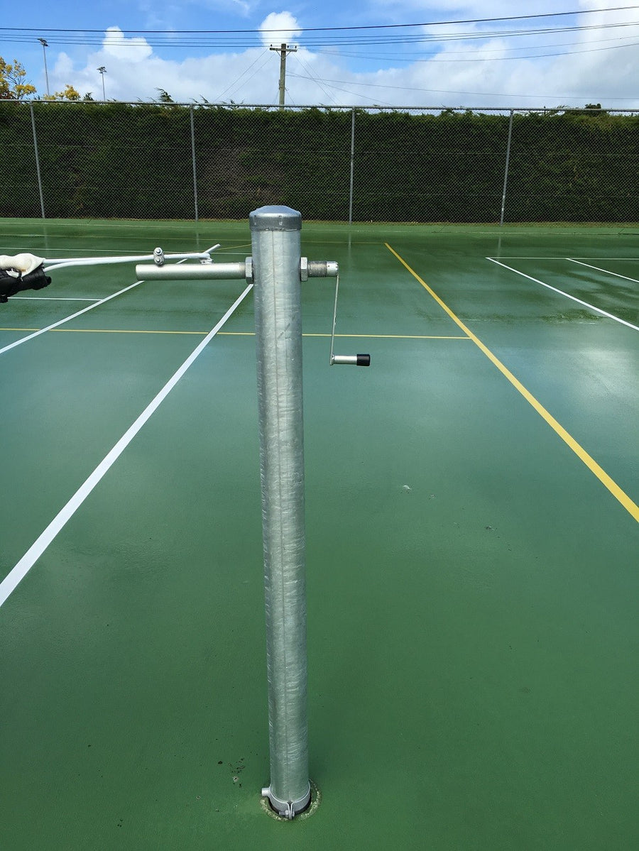 Galvanised Steel Tennis Posts with Winder (Round or Square)
