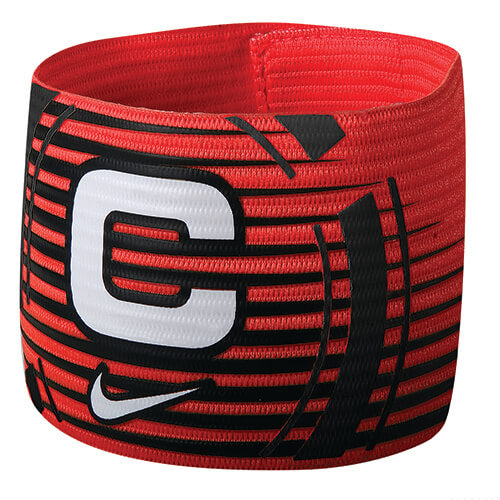 Nike Captain Arm Band Black White WEB