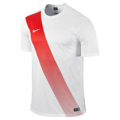 Nike Sash Jersey White Red Web