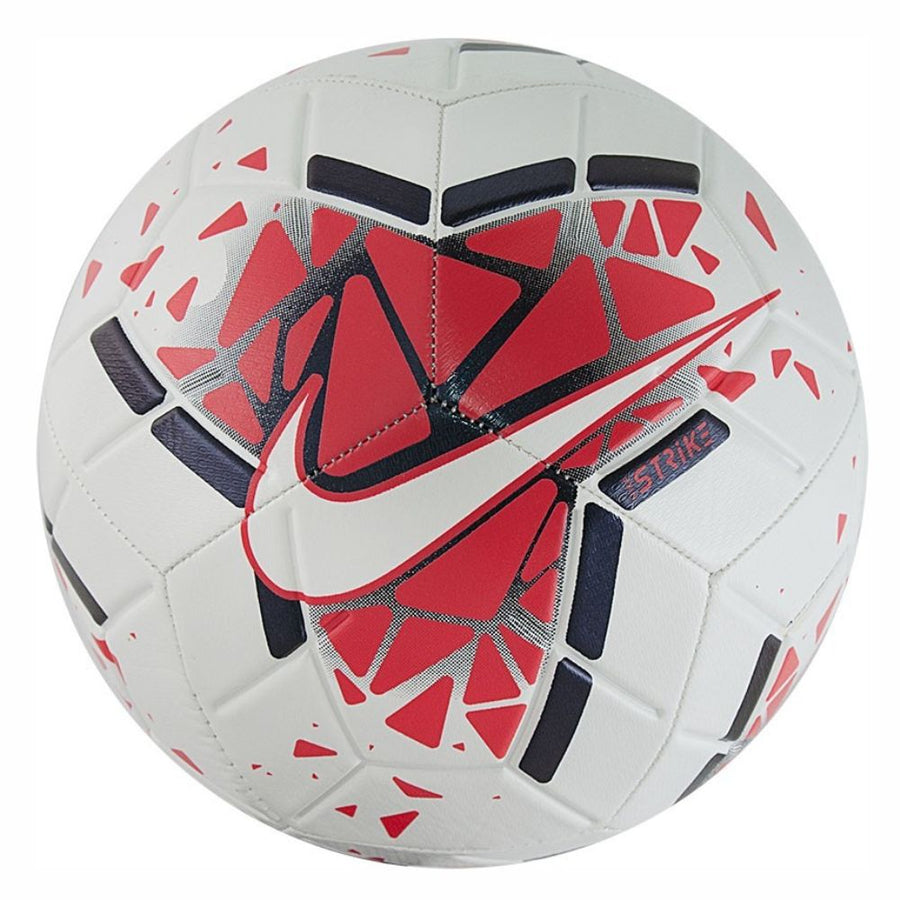 Nike Strike Soccer Ball - White/Crimson SC3639