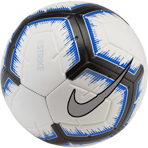 Nike Strike Soccer Ball - White/Racer Blue SC3310