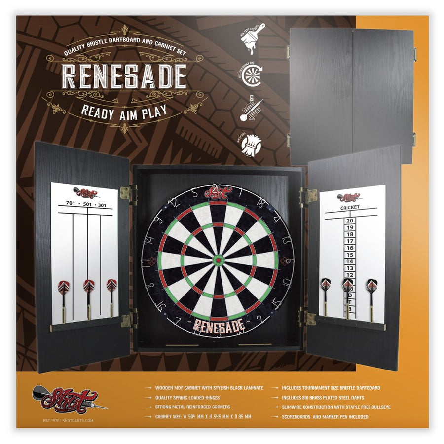 Renegade Dart Board Cabinet Set