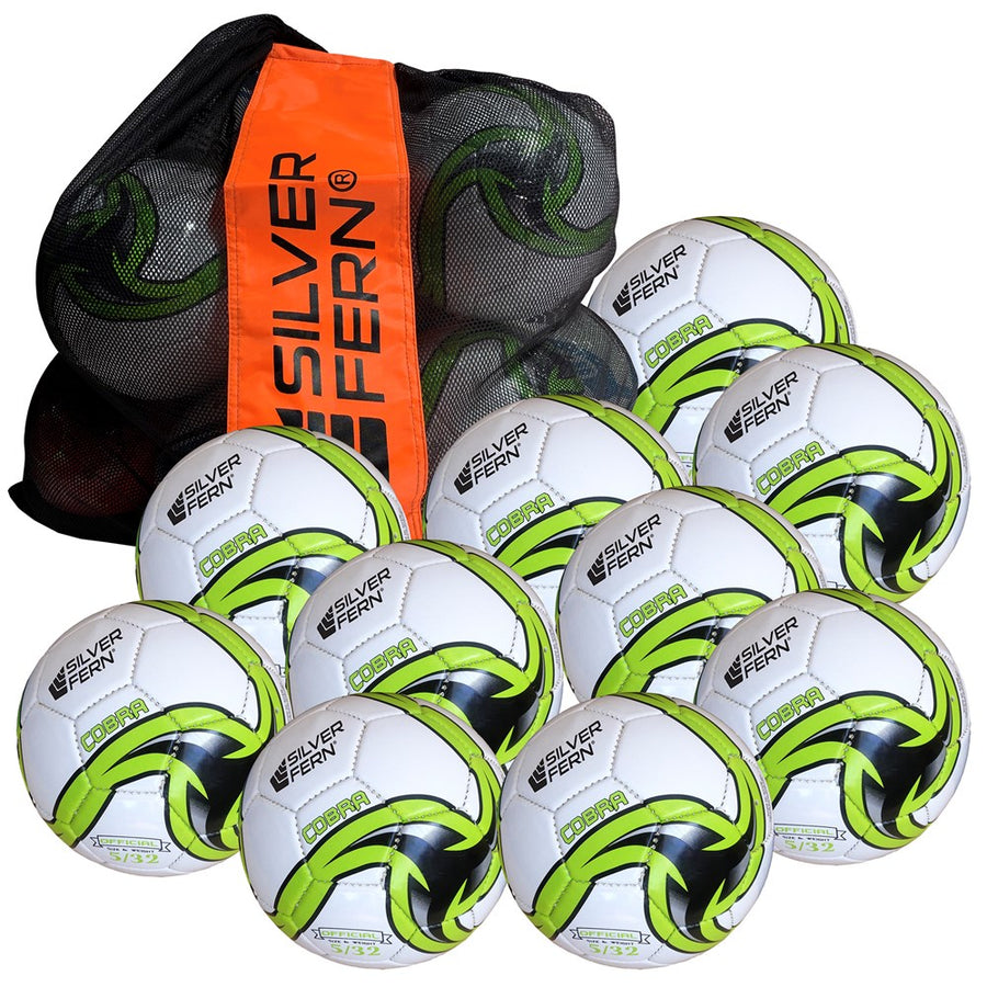 Silver Fern Soccer 10 Ball Pack
