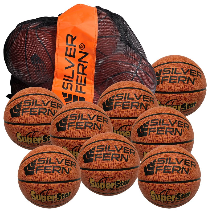 Silver Fern Basketball 'Match' 8 Ball Pack