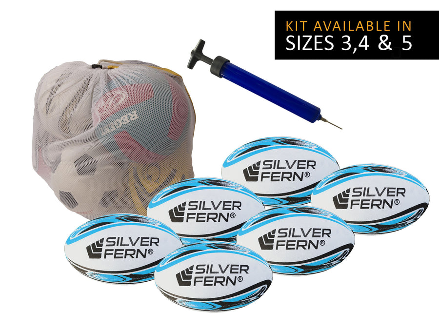 Silver Fern Rugby League Ball Kit - 6 Ball