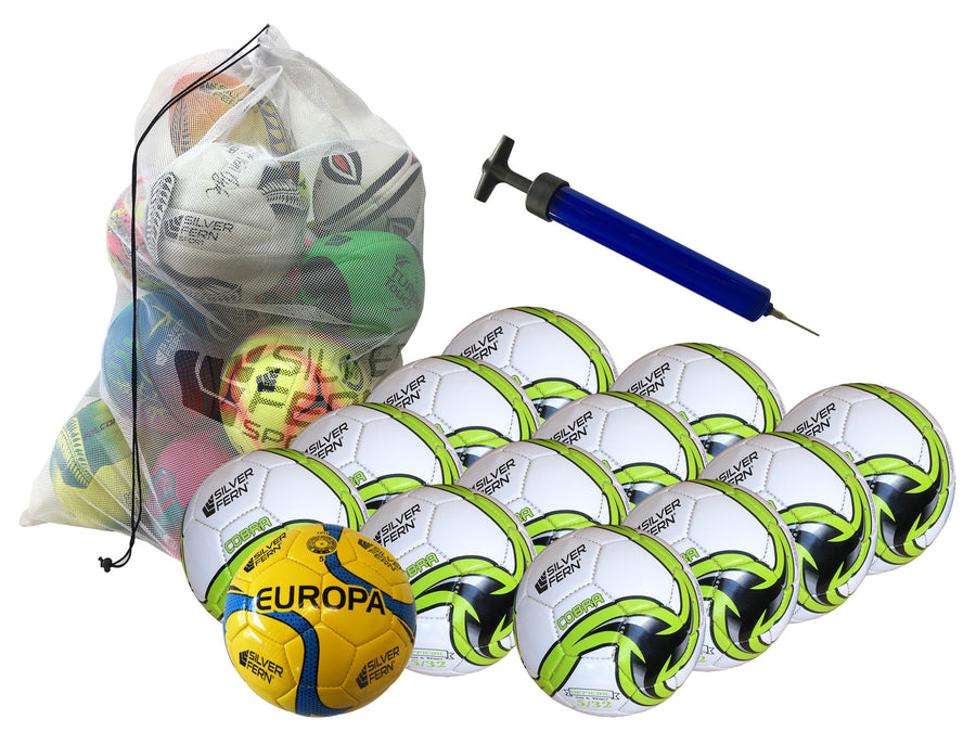 Silver Fern Soccer Ball Kit, sz5 - 13 Ball