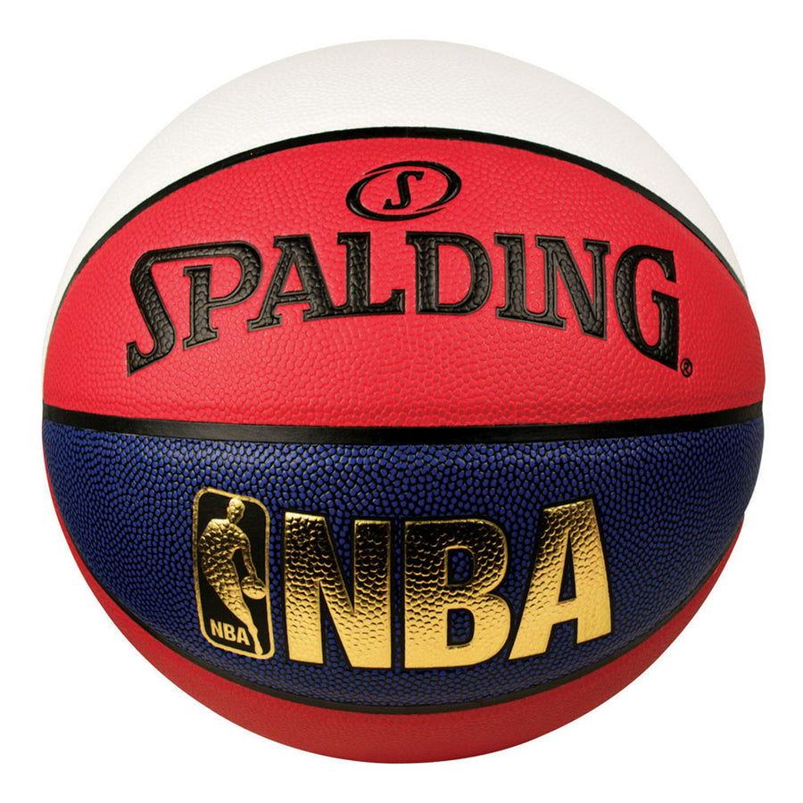 Spalding NBA Logoman Basketball - Red/White/Blue