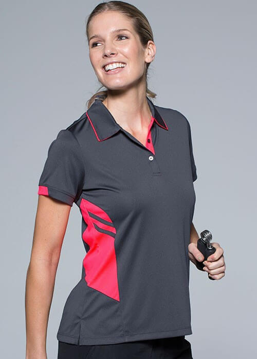 tasman-polo-ladies-charcoal-pink