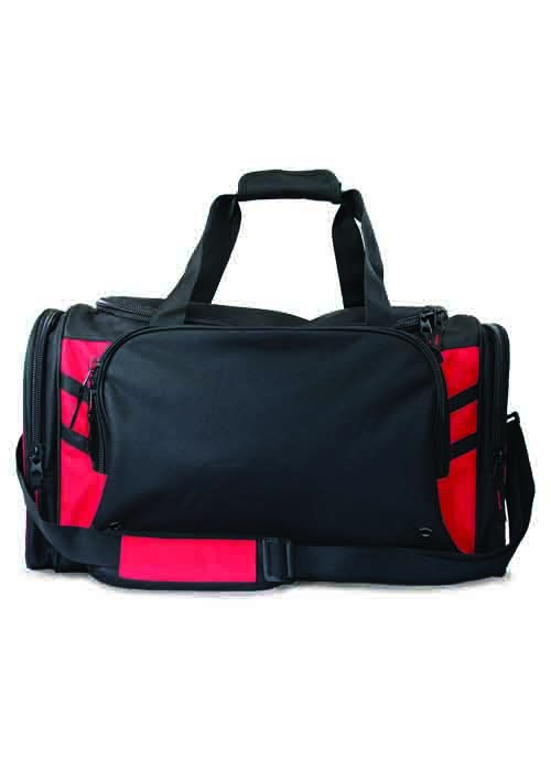 Tasman Sports Bag - Black/Red