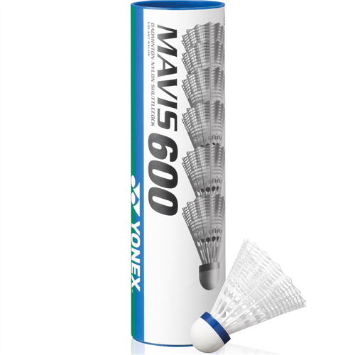 Yonex Mavis 600 MEDIUM Nylon Shuttles - Tube of 6