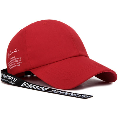 Casquette Rouge Sangle Streetwear