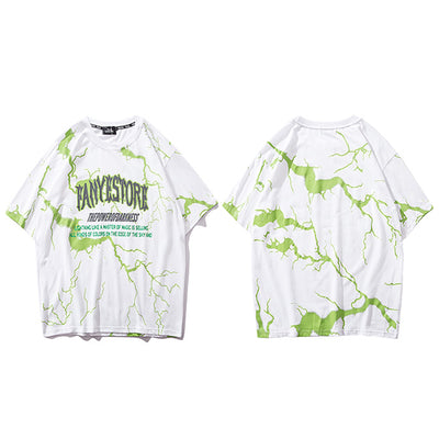 T-shirt Green Thunder