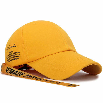 Casquette Jaune Sangle Streetwear