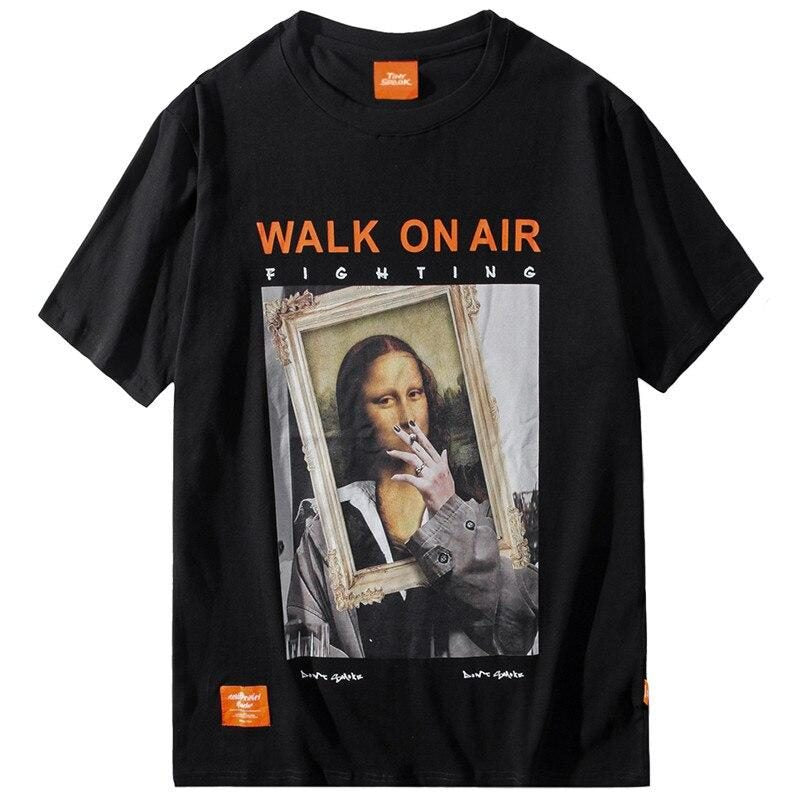 T-shirt Noir Mona Lisa