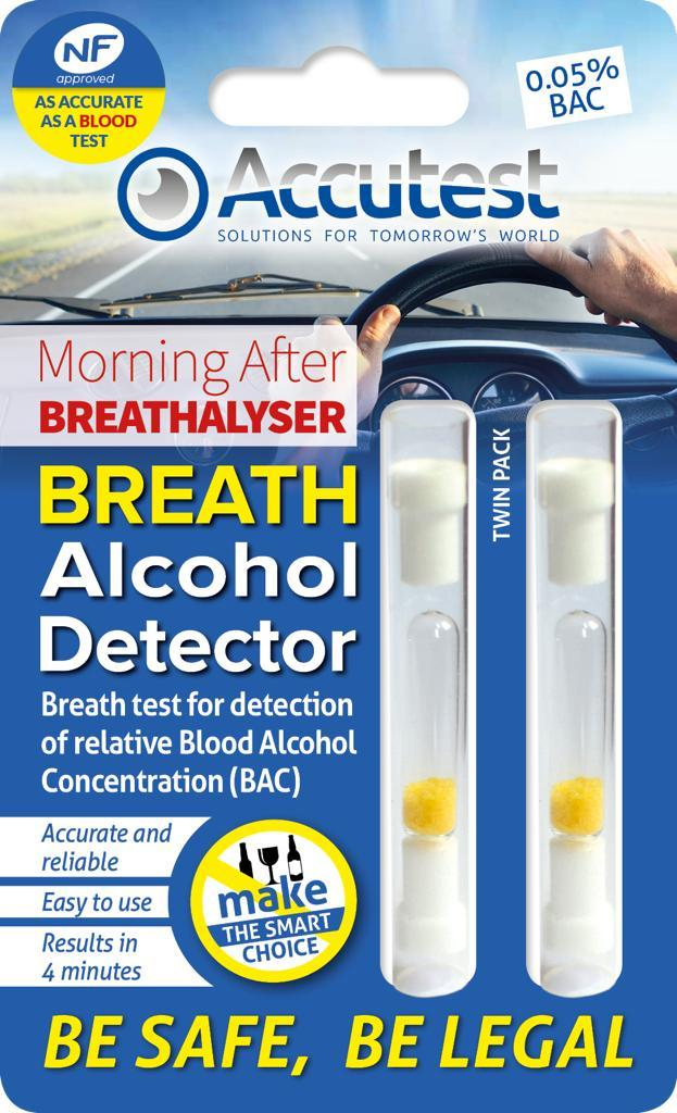 Accutest Alcohol Disposable Breathalyser (Twin pack), Medical Tests - Image 0