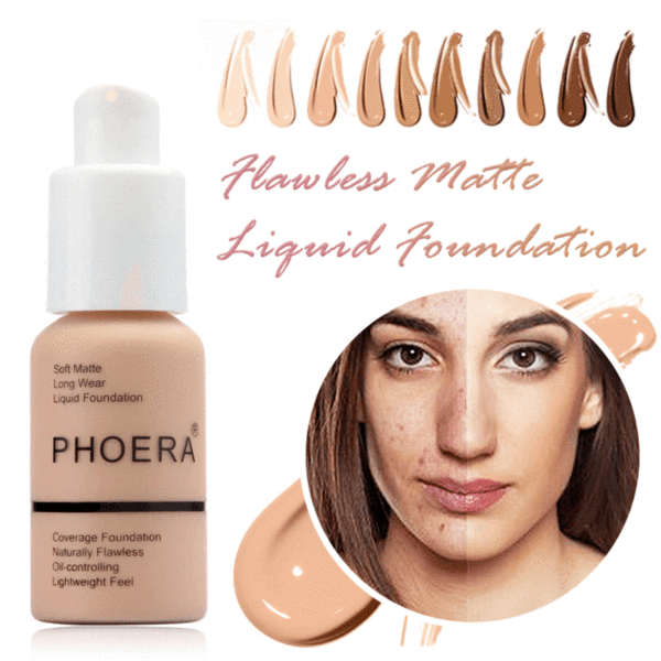 Phoera Flawless Matte Liquid Foundation, Face Makeup by My Wholesale Warehouse
