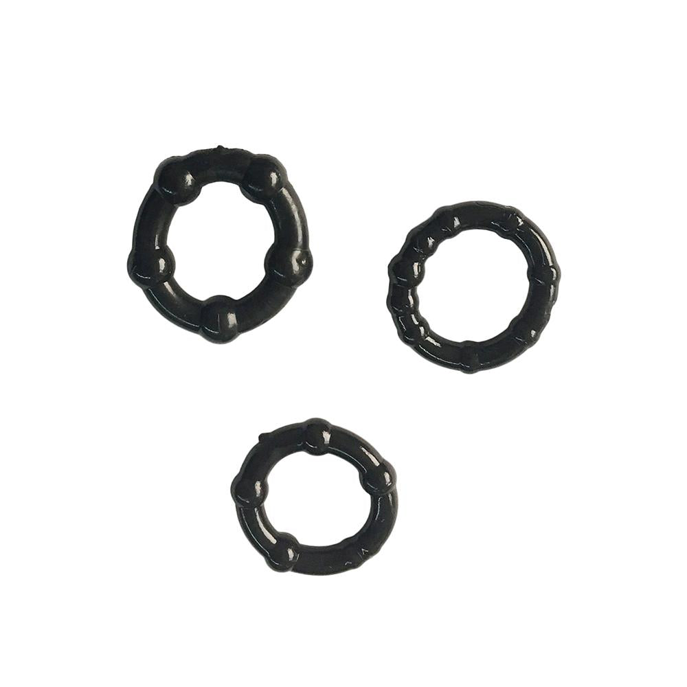 Generise Stay Hard Beaded Cock Rings 3 Pack, Sex Toys - Image 2