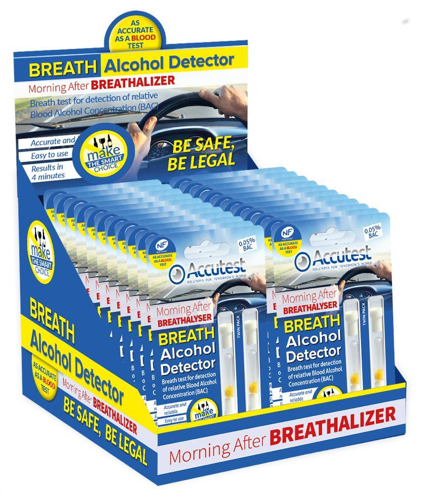 Accutest Alcohol Disposable Breathalyser (Twin pack), Medical Tests - Image 1