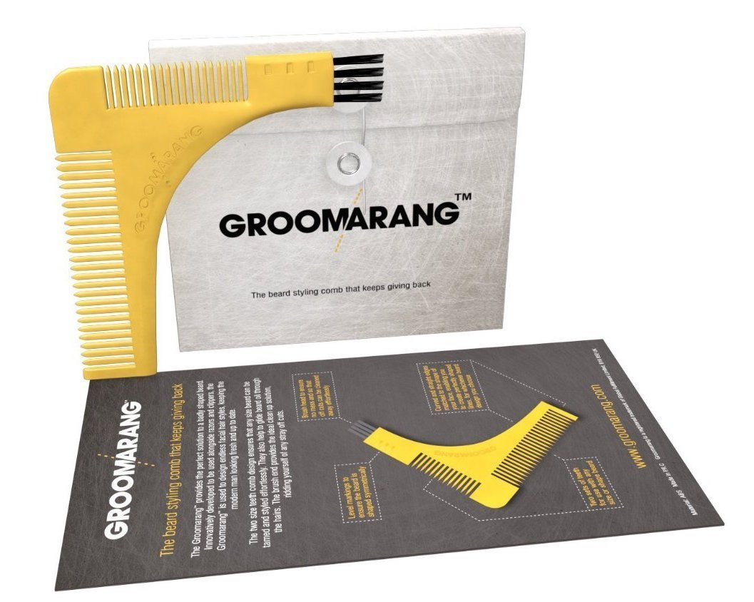 Groomarang Beard Shaping & Styling Template Comb, Combs & Brushes - Image 1