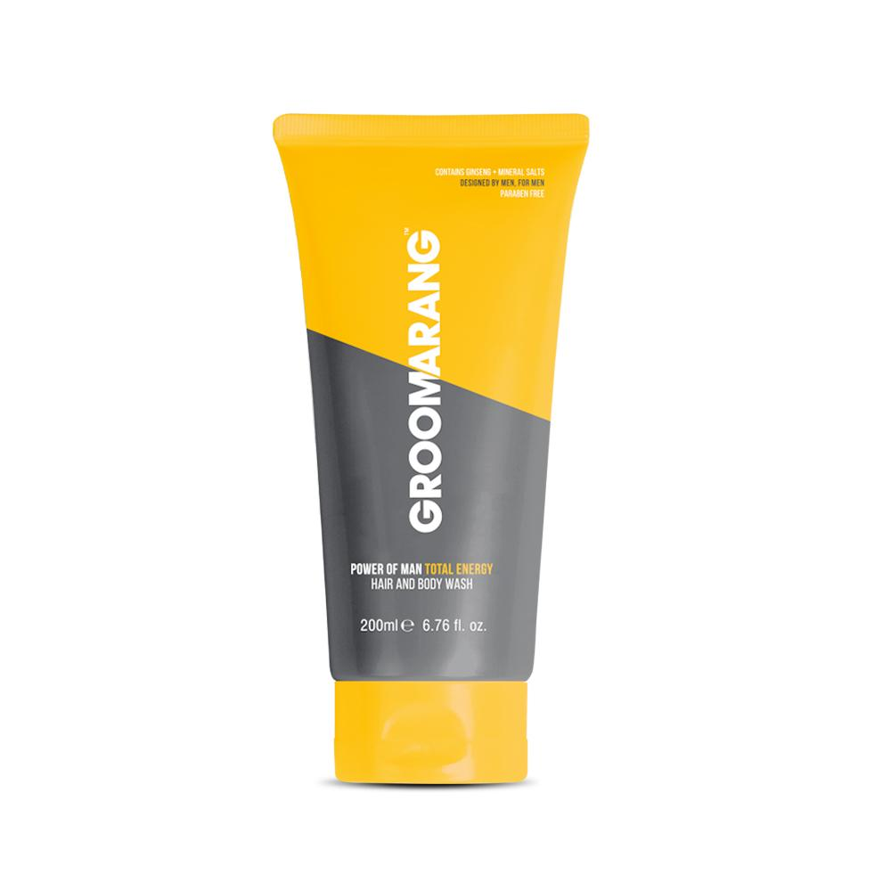 Groomarang Power of Man 'Total Energy' Hair and Body Wash 200ml, Body Wash by My Wholesale Warehouse