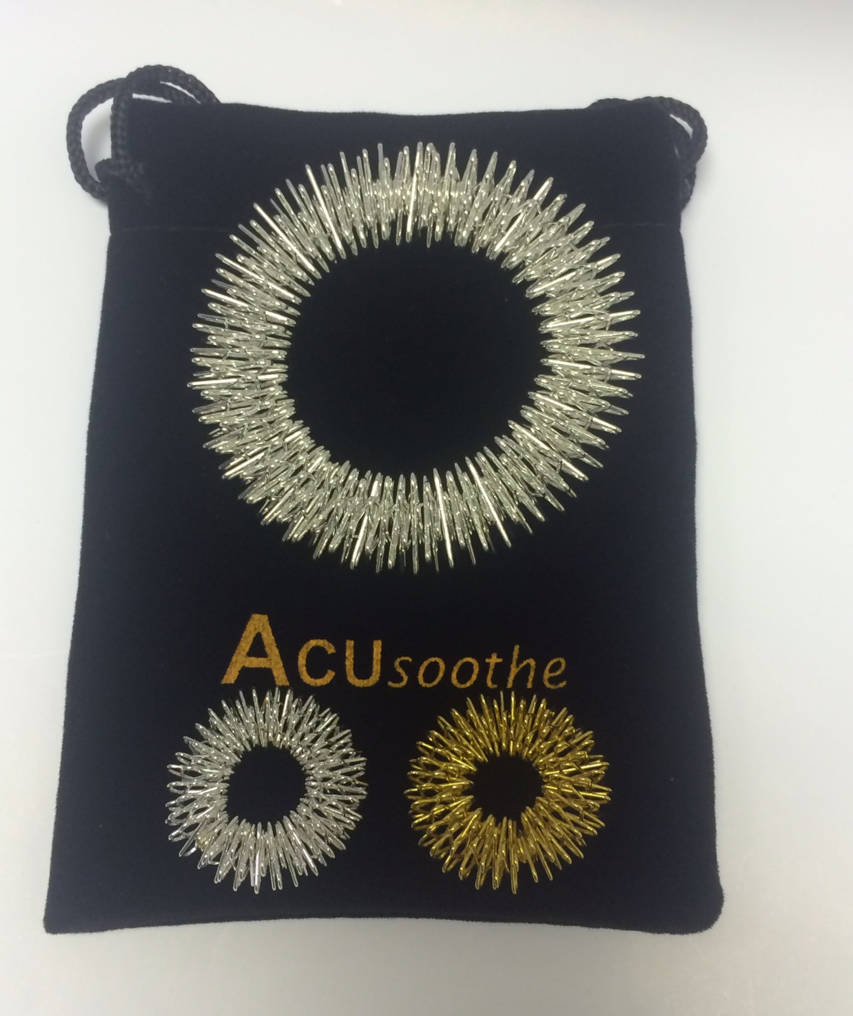Acusoothe Acupressure Bracelet Silver and Rings Silver and Gold, Bracelets - Image 0