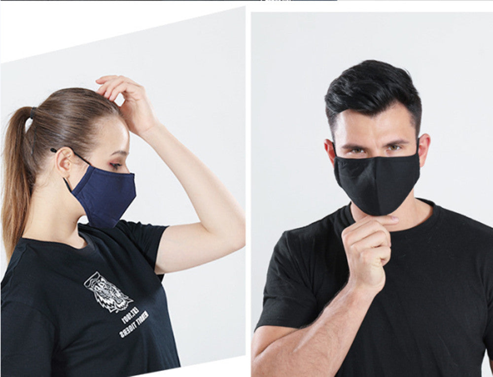 Generise Reusable Adjustable Face Mask with Filter Pocket and PM 2.5 Filter- Unisex- Black by  My Wholesale Warehouse