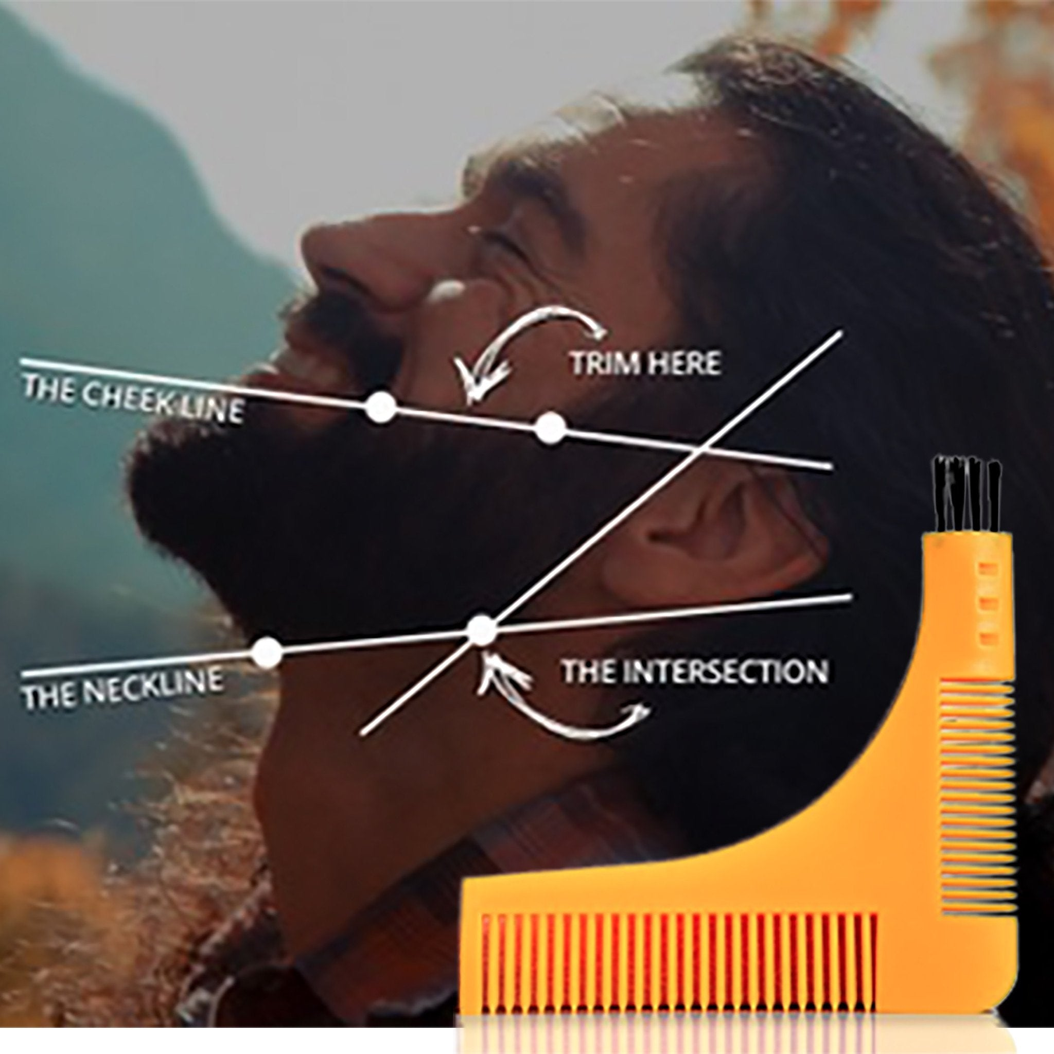 Groomarang Beard Shaping & Styling Template Comb, Combs & Brushes - Image 4