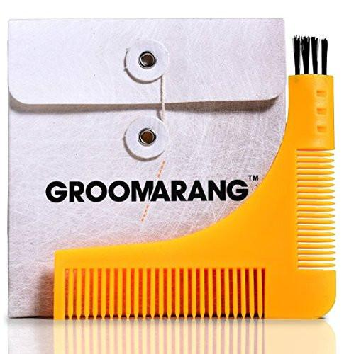 Groomarang Beard Shaping & Styling Template Comb, Combs & Brushes - Image 0