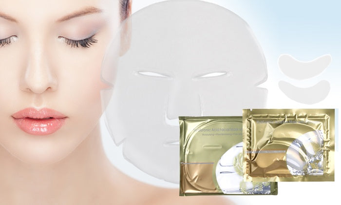 Global White Collagen & Hyaluronic Face Mask by  My Wholesale Warehouse