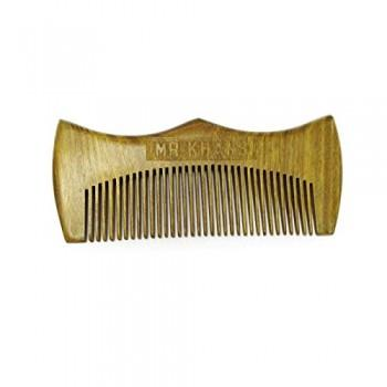 Mr Khans Handmade Engraved Wooden Beard Comb, Hair Care by My Wholesale Warehouse