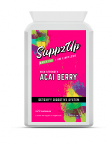SUPPZUP -ACAI BERRY 1000MG 120 CAPSULES, Health & Beauty by My Wholesale Warehouse