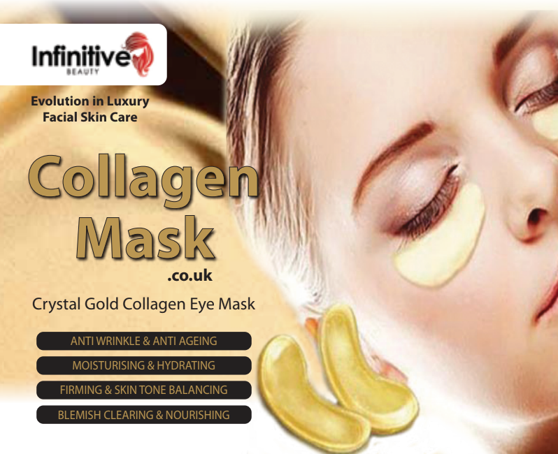 Infinitive Beauty Gold Collagen Eye Mask, Skin Care Masks & Peels by My Wholesale Warehouse
