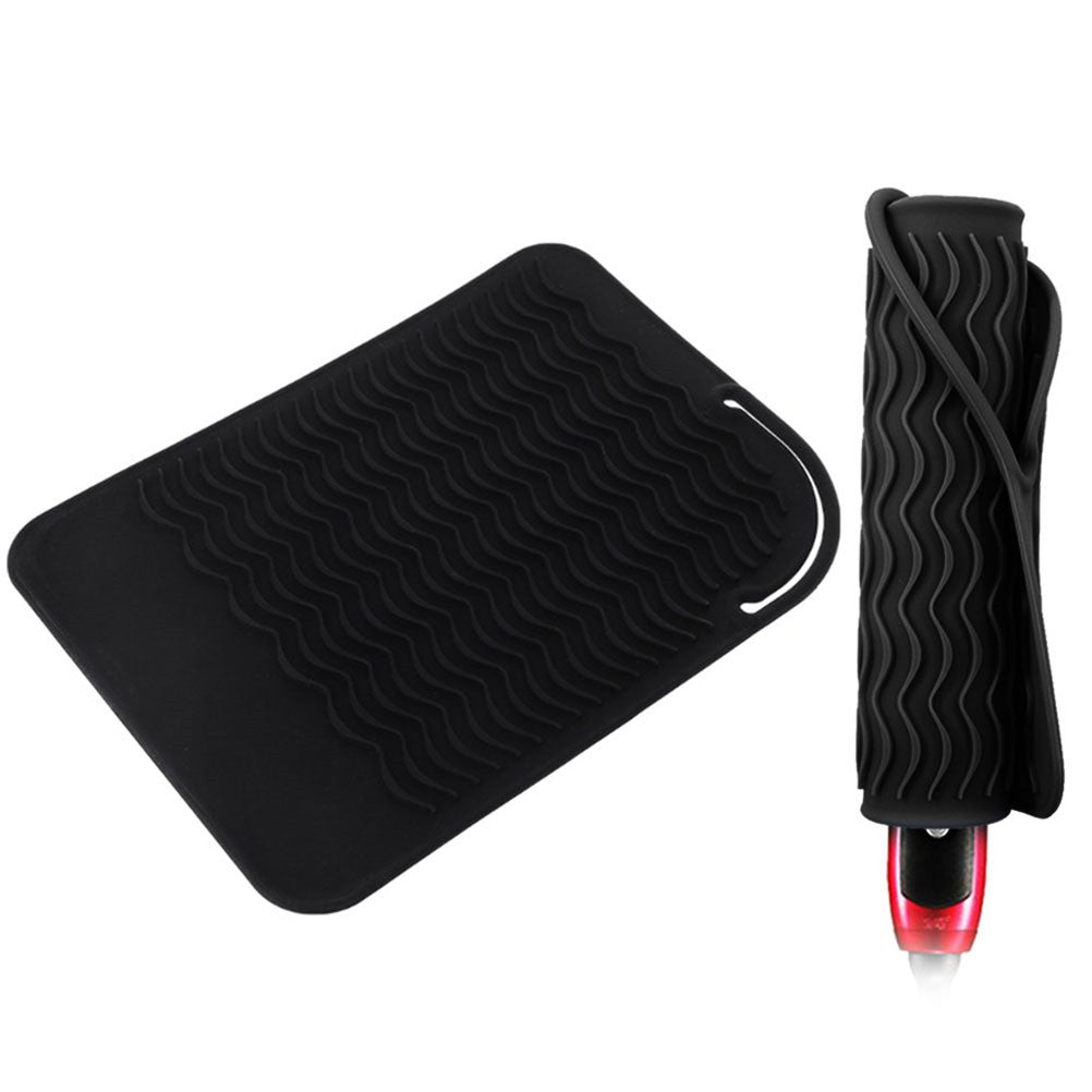 Glamza Silicone Hair Straightener Heat Protection Mat Wrap, Hair Care by My Wholesale Warehouse