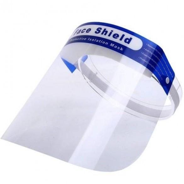 Disposable Blue Strip Face Shield Visor with Foam, Work Safety Protective Equipment by My Wholesale Warehouse