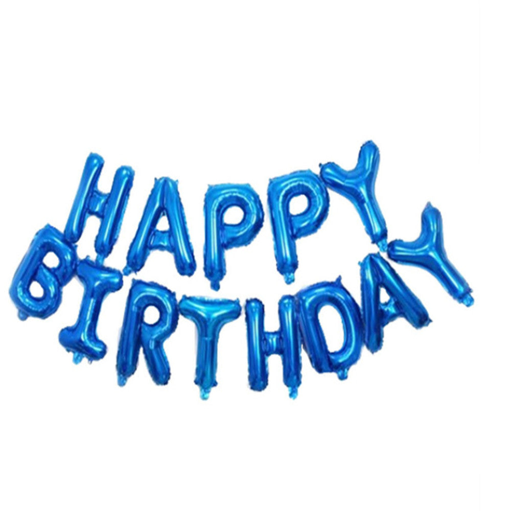 Inflatable Happy Birthday Balloon with String and Straw, Balloons - Image 6