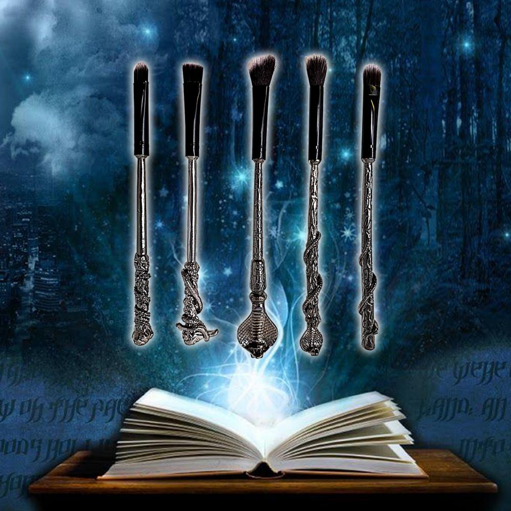 Harry Potter Inspired 5pc Snakehead Make Up Brush Set, Makeup Tools by My Wholesale Warehouse