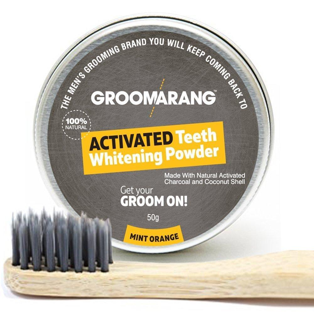 Groomarang Infusion Charcoal Bamboo Toothbrush by  My Wholesale Warehouse
