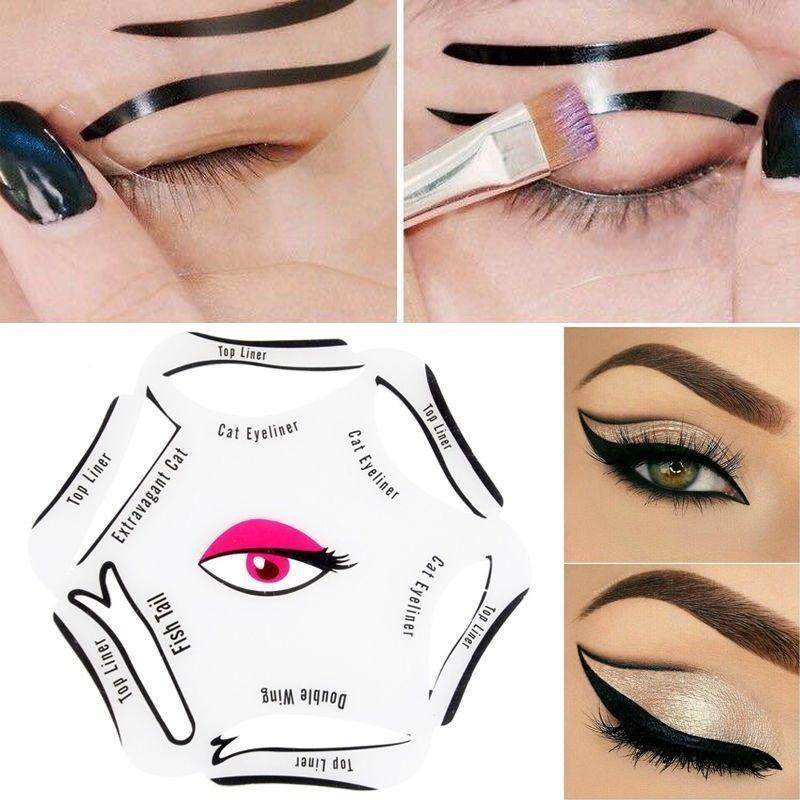 Glamza Cat Eyeliner 6 in 1 Stencil, Eye Makeup by My Wholesale Warehouse