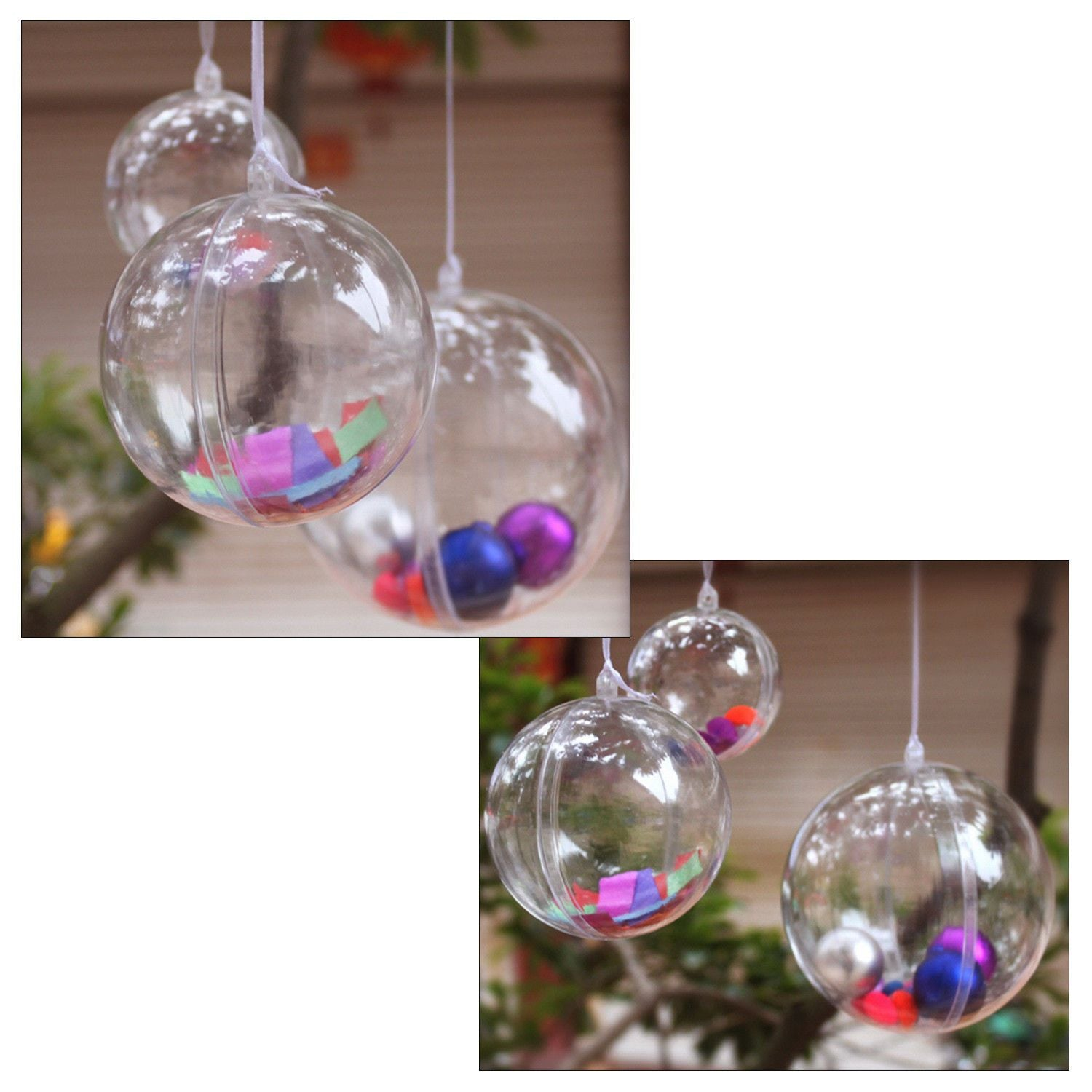 DIY Christmas Baubles - 6cm or 8cm, Holiday Ornaments - Image 2