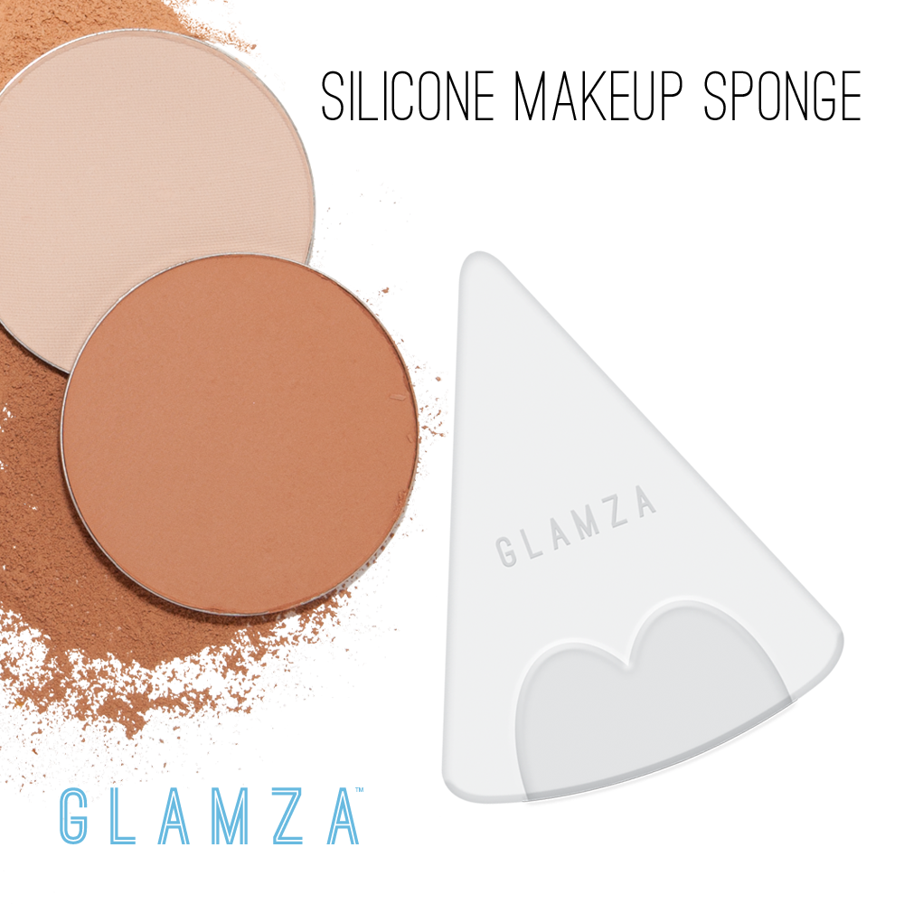Glamza Triangle Silicone Make Up Sponge, Makeup Tools by My Wholesale Warehouse