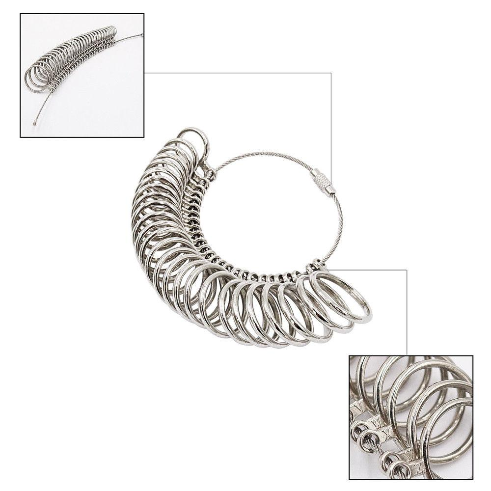 Metallic 26pc Ring Size Measure, Jewellery Cleaning & Care - Image 2