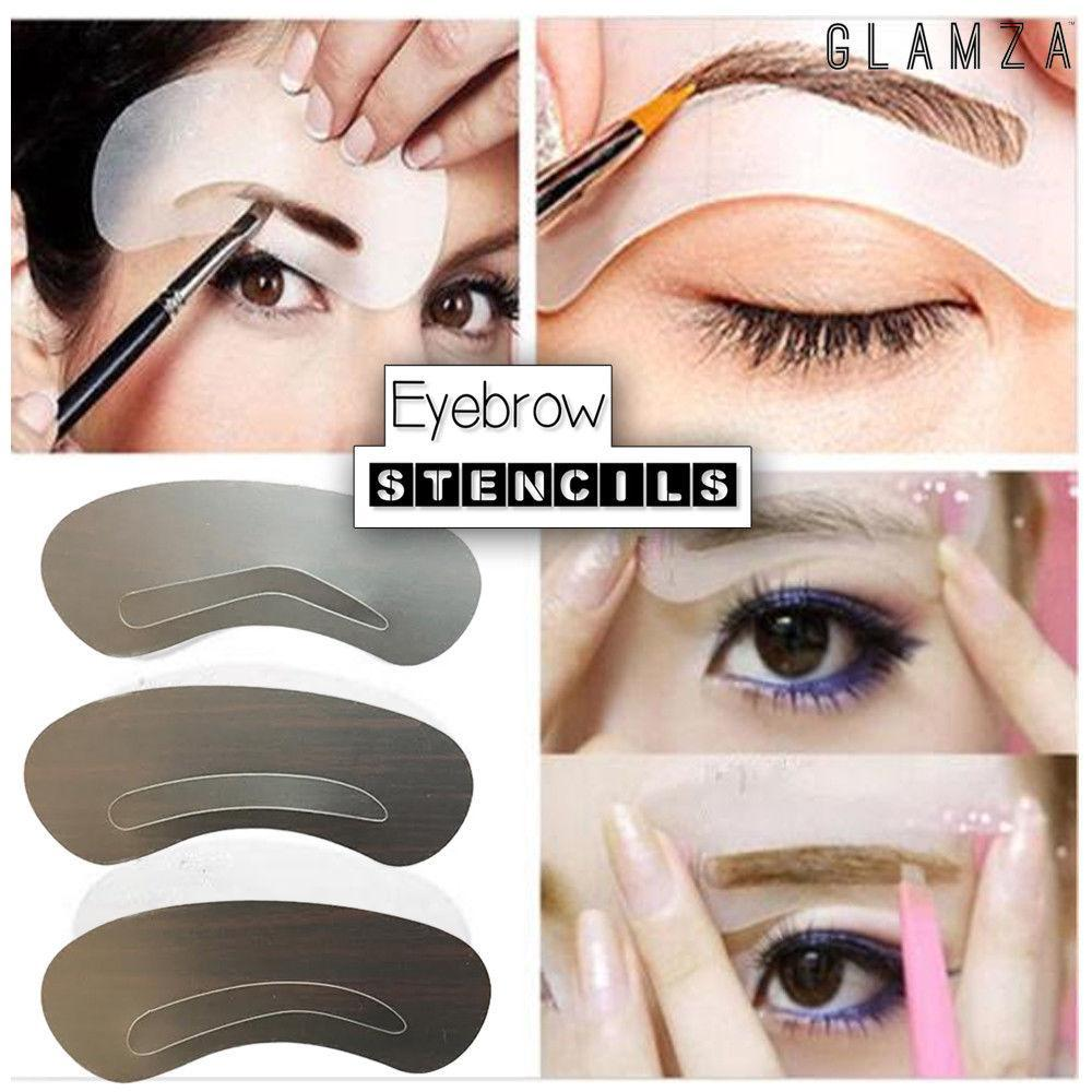 Glamza Eyebrow Stencils (3 Pack), Makeup Tools by My Wholesale Warehouse