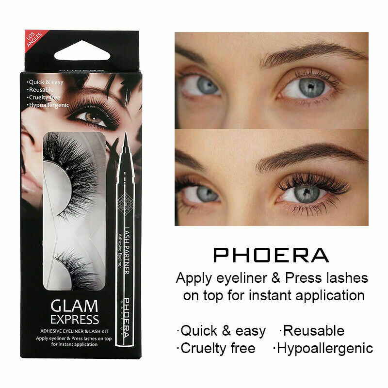 Phoera Lash and Eyeliner Kit by  My Wholesale Warehouse