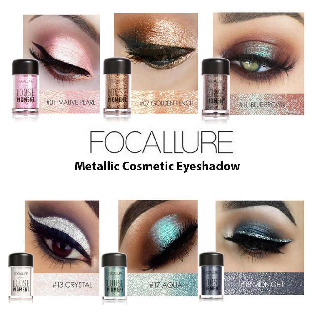 Focallure Metallic Eye Shadow Shimmer Powder by  My Wholesale Warehouse