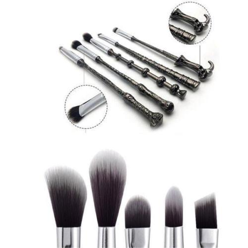 Harry Inspired 5pc Wizard Brush Sets - 2 Types, Makeup Brushes by My Wholesale Warehouse